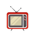 obsolete retro television receiver vector image vector image