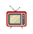 obsolete retro television receiver vector image