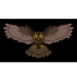 Owl painted blots vector image vector image