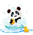 panda bath vector image vector image