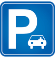 Parking traffic sign vector image