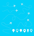 plane line path airplane directional vector image vector image