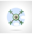 Quadrotor flat color icon vector image vector image