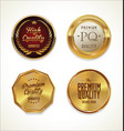 quality golden badges 5 vector image vector image