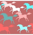 Running horses seamless pattern vector image vector image