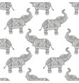 seamless pattern with hand-drawn tribal styled vector image vector image