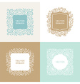 set of floral monograms and logo design templates vector image vector image