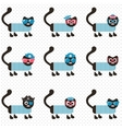 set of sailor cats vector image vector image