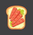 set toasts and sandwich breakfast bread toast vector image vector image