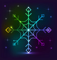 snowflake neon lights effect vector image