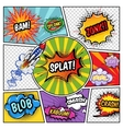 Sound Elements Comic Book vector image vector image