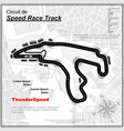 speed track background with city vector image vector image