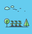 sprouts and trees nature icon vector image