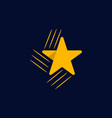 star rising icon modern logo vector image vector image