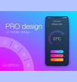 timer clock application ui design concept ux vector image vector image