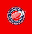 tournament logo american football vector image