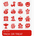 trick or treat icon set vector image