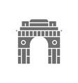 triumphal arch gate india to new delhi grey