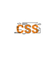 CSS word lettering vector image