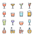 Alcohol Beverage Icon Bold Stroke with Color vector image