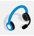 headphones with microphone isometric icon vector image
