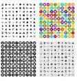 100 nursery school icons set variant vector image vector image