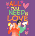 a cute couple in retro style vector image vector image