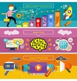 Analytics SEO Optimization and Video Marketing vector image vector image