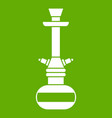 arabic hookah icon green vector image vector image