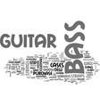 bass guitar essentials text word cloud concept vector image vector image