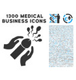 blowjob sperm ejaculation icon with 1300 medical vector image vector image