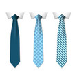 blue plain and striped ties vector image