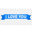 blue tape with i love you text vector image vector image