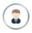 Business man cartoon icon for web vector image vector image
