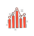 cartoon business graph icon in comic style chart vector image vector image