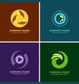 circle media logos vector image vector image