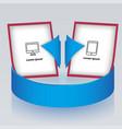circular arrow with presentation brochures vector image vector image