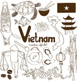 Collection of Vietnamese icons vector image vector image