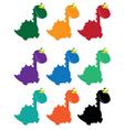 cute dino cartoon colored vector image vector image