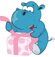 Cute Hippo Cartoon Character vector image vector image