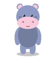 cute hippo isolated icon design vector image