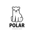 cute polar cartoon logo icon vector image