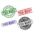damaged textured too busy stamp seals vector image