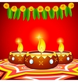 Decorated Diya vector image vector image