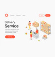 delivery service company concept vector image