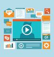 e-learning concept in flat style vector image