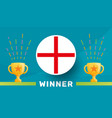 england winner football 2020 championship vector image
