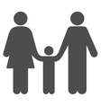 Family Child Flat Icon vector image vector image