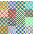 Fantasy Tartan Patterns vector image vector image