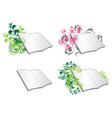 Floral diaries vector image